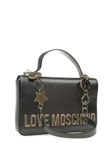 Love Moschino Clutch / El Çantası Gümüş